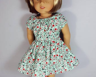 18 inch doll clothes mint garden peasant dress