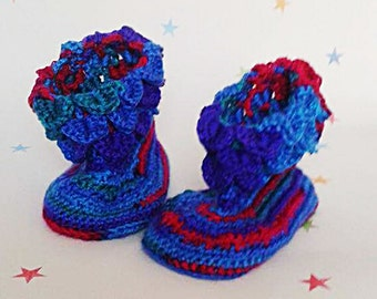 Dragon slippers, Baby shoes, dragon scale boots, crochet booties, kids slippers, gift for kids, new baby, crawler shoes, coming home outfit