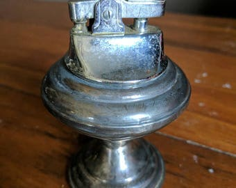 Vintage Empire Table Cigarette Lighter Sterling Silver