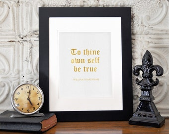 """Gold Foil Print 