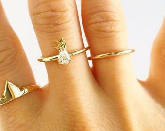 Diamond Pineapple Ring