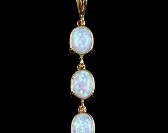 Opal Triple Gold Pendant 4.50ct
