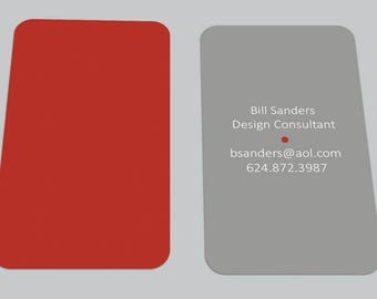 Modern Minimalist Solid Color BUSINESS CARD / Calling Card / Custom Contact Card / Scandinavian / Mid Century