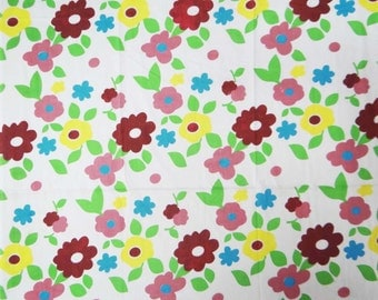 "Dressmaking Fabric Cotton Fabric For Sewing Designer Off White Pure Cotton Floral Print Fabric 41"" Wide Fabrics Material By 1 Yard ZBC5045"