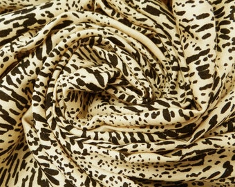 Dressmaking Fabric Cotton Fabric For Sewing Designer Beige New Fabric Indian Cotton Sewing Dress Curtain Floral Printed By The Yard ZBC1464