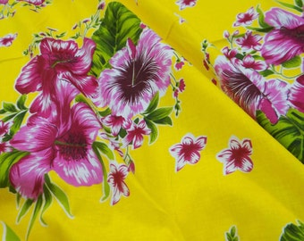 Dressmaking Fabric Cotton Fabric For Sewing Designer Yellow Crafting Fabric Cotton Fabric For Quilting Floral Print Fabric By 1 Yard ZBC6152