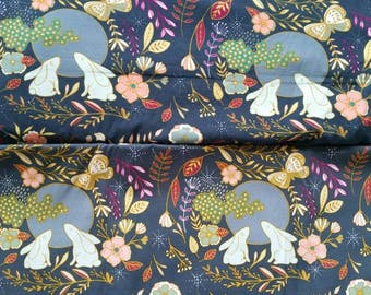Moon Bunnies Floral Quality Cotton