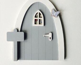 Grey Personalised Fairy/Elf Door