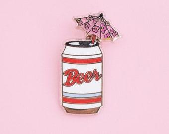 Beer Umbrella Enamel Pin