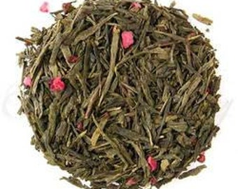 Raspberry Flavoured Loose Leaf Green Tea - 100g