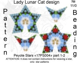 Blue Flowers pattern, Ladybug patterns, Stars Peyote pattern, Spring patterns, Geometric patterns, Peyote stitch, Beading patterns