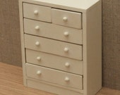 112 Scale Dolls House Chest of Drawers  Choice of 15 colours painted to order