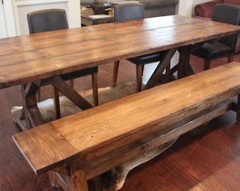 SAF Rustic Farmhouse Table