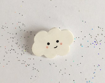 Kawaii Cloud Pin [brooch lapel pin]
