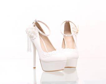 Bridal Shoes/Heels Crystals Pumps/Custom Shoes/Party & Evening