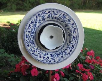 Blue Garden Plate Flower