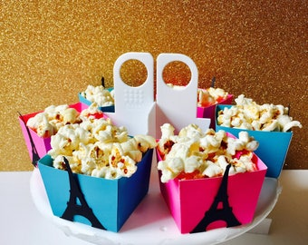 Paris Candy Cups, Eiffel Tower Candy Cups, Popcorn Cups, Party Supplies