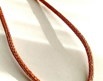 Copper Viking Knit Necklace - Viking Weave Chain