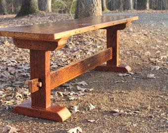 Awesome Bench, Wood Bench, Rustic Bench, Reclaimed Wood Bench, Farmhouse Bench,  Rustic