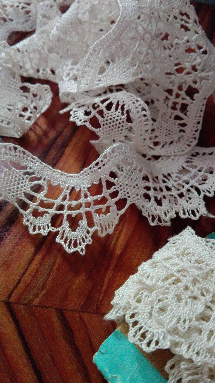 Encaje vintage costura puntillas bordado ganchillo antiguo - Hacer puntillas de ganchillo ...