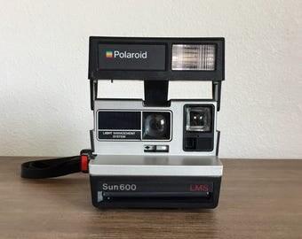 Vintage Polaroid Sun 600 LMS Instant Camera; Polaroid Land Camera; Instant Camera; Vintage Camera; Instant Film Camera; Working Camera