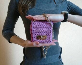 FREE SHIPPING, Crochet bag, Cotton bag, Handmade crochet bag, Crocheted bag