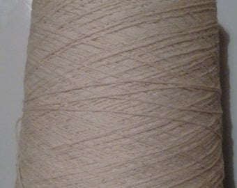 Undyed cotton, combed,soft, Long Staple.  8/3 500g Cone