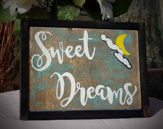Wood Sign, Baby Gift, Rustic, Country, Wood, Nursery Decor, Rustic Nursery Decor, Baby Shower Gift, Christmas Gift, Sweet Dreams Sign