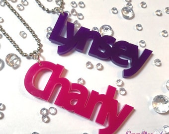 Personalised name charm made to order in 31 colours planner, organiser, gift tag, bag charm, keyring, school bag