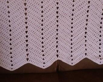 Lavender Crochet Baby Blanket, Baby Blanket, Crochet Blanket, Lavender Baby Blanket