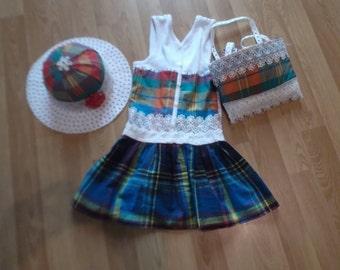 dress 4 years, bag, hat