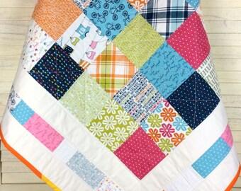 Baby Quilt, Baby Patchwork, Baby Patchwork Quilt, Patchwork Quilt, Patchwork, Quilt, Baby Bedding, Modern Quilt, Cot Quilt, Bedding