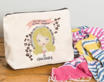 Personalised Illustrated 'This Girl' Make Up Bag