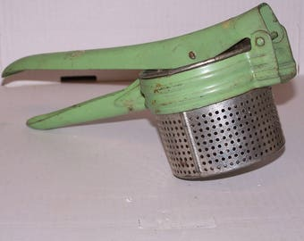 Potato Ricer, Vintage food press,vintage kitchen utensil