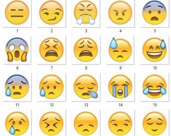 50% off 99 Emoji props, Emoji Photo Booth Prop Instant Download - Printable Birthday party Package, Emoji, Emoji stickers, Emoji digita