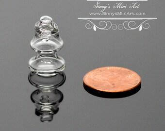 1:12 Dollhouse Miniature Glass Christmas Tree Jar BD HB458