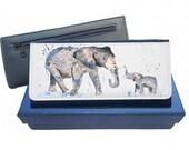 Elephant purse navy purse pink purse leather purse elephant gift elephant wallet elephant leather purse elephant family