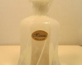 Vintage Milky White Murano Glass Decanter