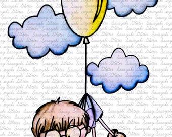 The Boy In the sky Digital Stamp by Sasayaki Glitter