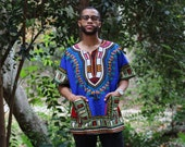Blue Unisex Dashiki | OSFM | High-Quality - Affordable