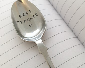 Personalised Tea Spoon, Silver Plated Cutlery, Personalised Cutlery, Hand Stamped Cutlery, Thank You Gift