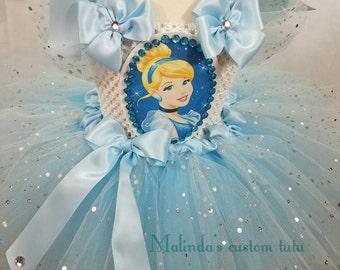 Cinderella Tutu dress, birthday dress,party dress, first birthday,disney tutu