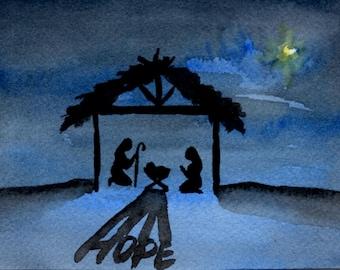Hope Nativity Card