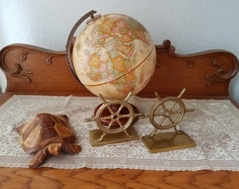 Small Replogle world classic globe-office/retro/nautical home decor free shipping!