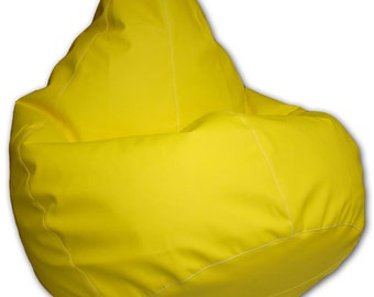 Bean bag chair cover from imitation leather for kids, teens, adults. Wide choice of colors!