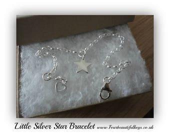 Little Silver Star Bracelet