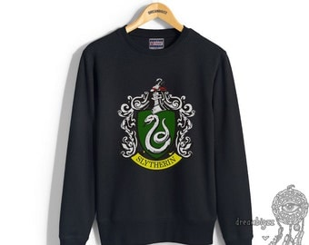 Slyth #1 Crest printed on Black color Crew neck Sweatshirt