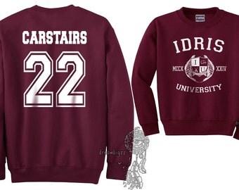 Carstairs 22 Idris University Crew neck Sweatshirt Maroon