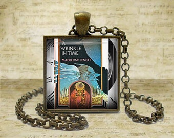 A Wrinkle in Time Book Necklace Literary Gifts Literary Necklace Literature Gifts  Book Lover Gift for Teacher Book keyfob Book keychain