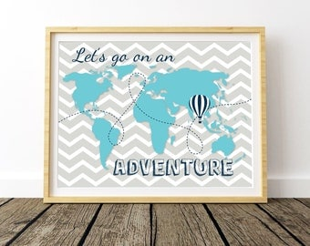Nursery World Map, World Map Kids Room, World Printable Map, World Map Artwork, World Map Large, Kids World Map, World Map Wall Art